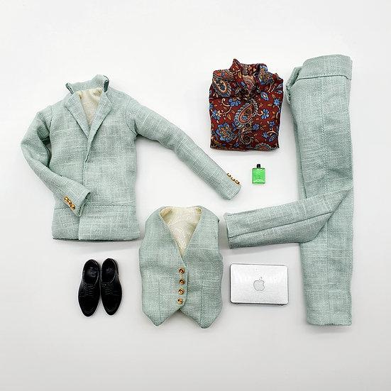 Total Look 4 Piece Mens Street Style Suit Set