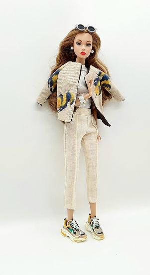 Doll Linen Capri Trousers