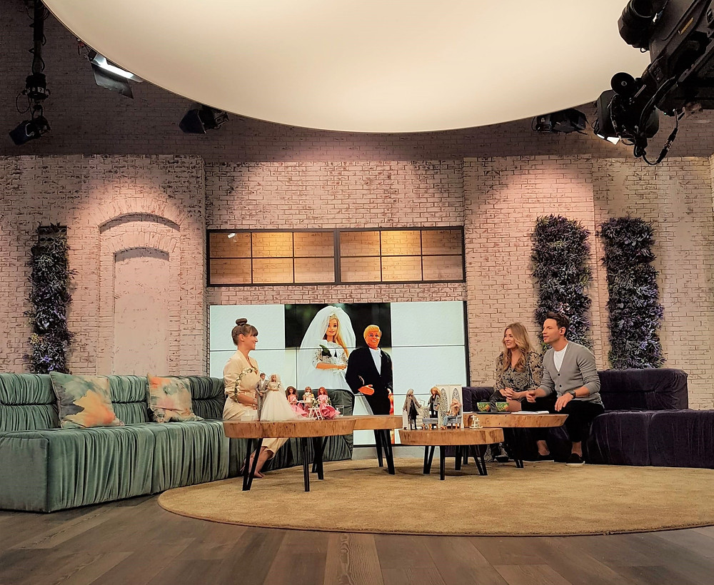 Polish national TV studio - Isabela Kwella is a guest speaker about barbie dolls, collectable dolls, fashion doll toys