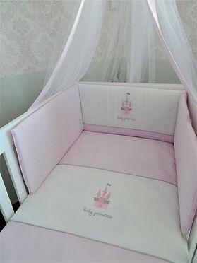 Baby Oliver Pink Castle quilt and bumper set