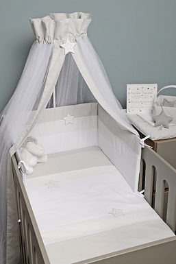 Grey Star Baby Oliver Quilt & Bumper Set