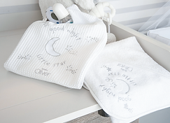 Baby Oliver Little Star baby bedding embroidered collection with original Swarovski Crystals