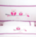 Baby Oliver Pink Owl baby bedding embroidered collection