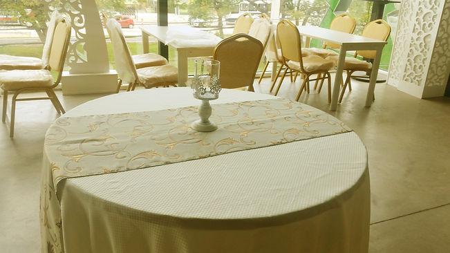mesa redonda, Centro de Mesa