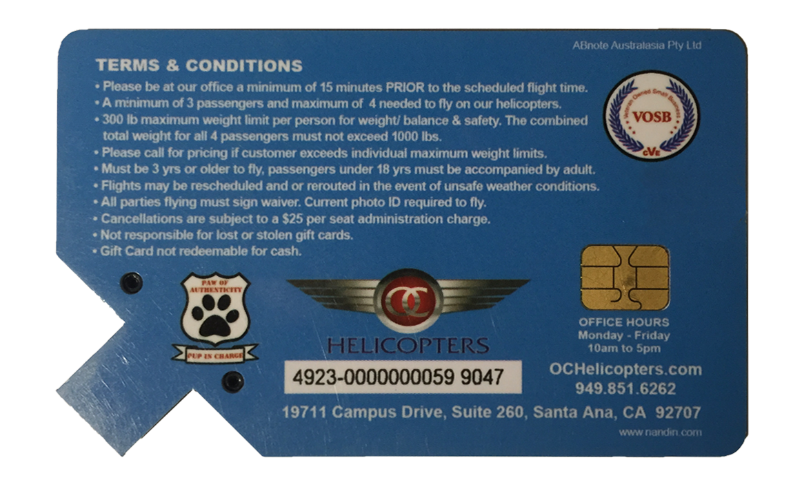 OC Helicopters CL Card Back