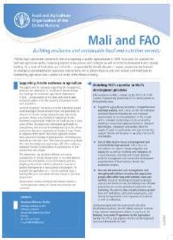Mali and FAO