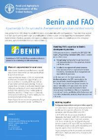Benin and FAO