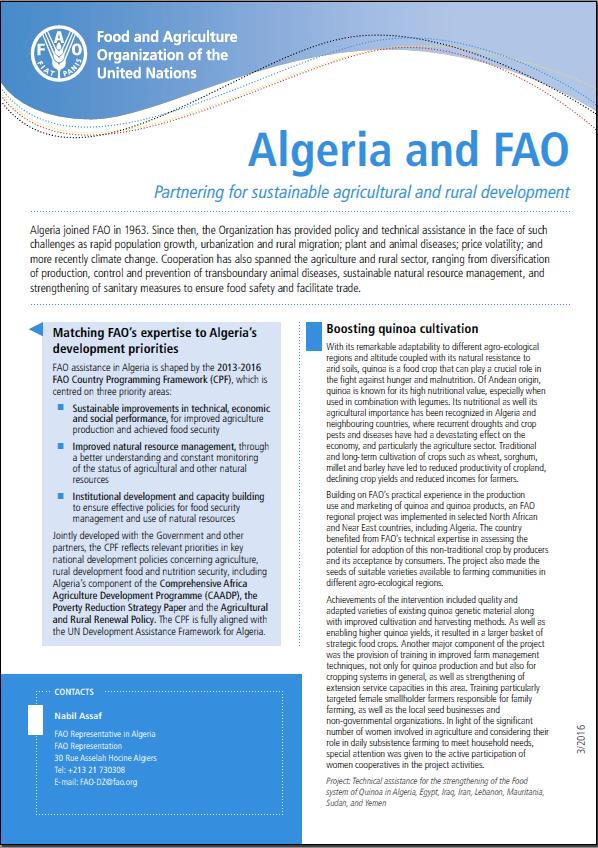 Algeria & FAO