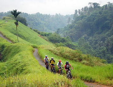 Cycling near Heaven in Bali