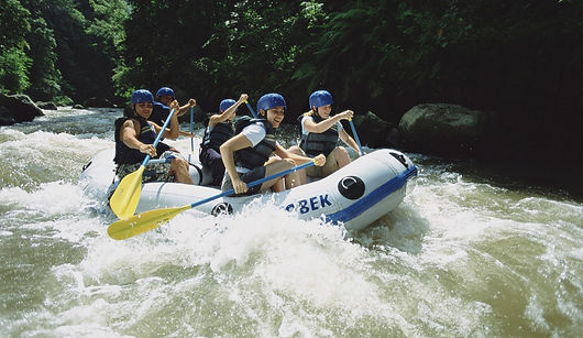 white water rafting on the Ayung River