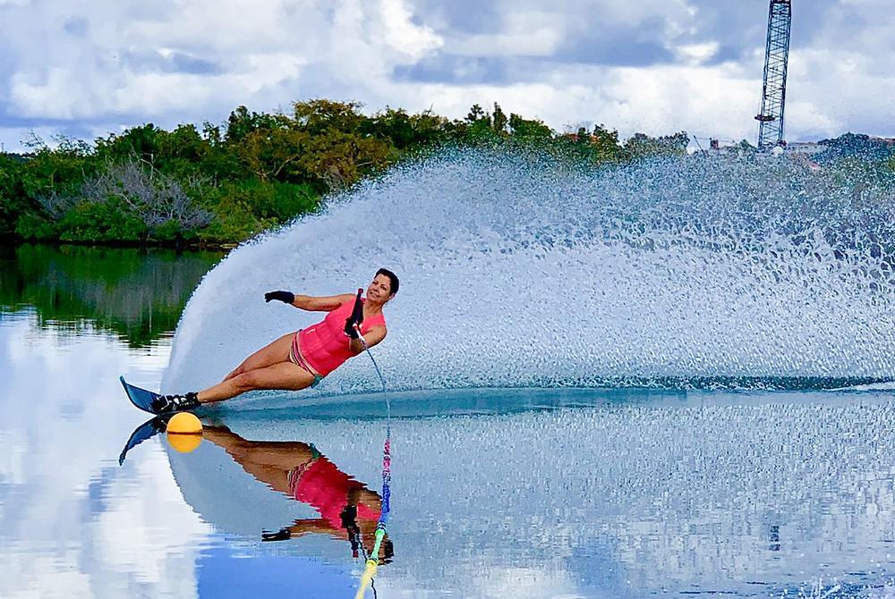 Wendy Durigon Waterski Ski Caraibes Saint Martin Sint Maarten