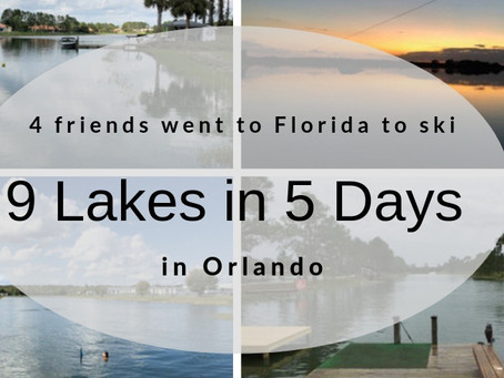 9 Lakes in 5 days in Orlando