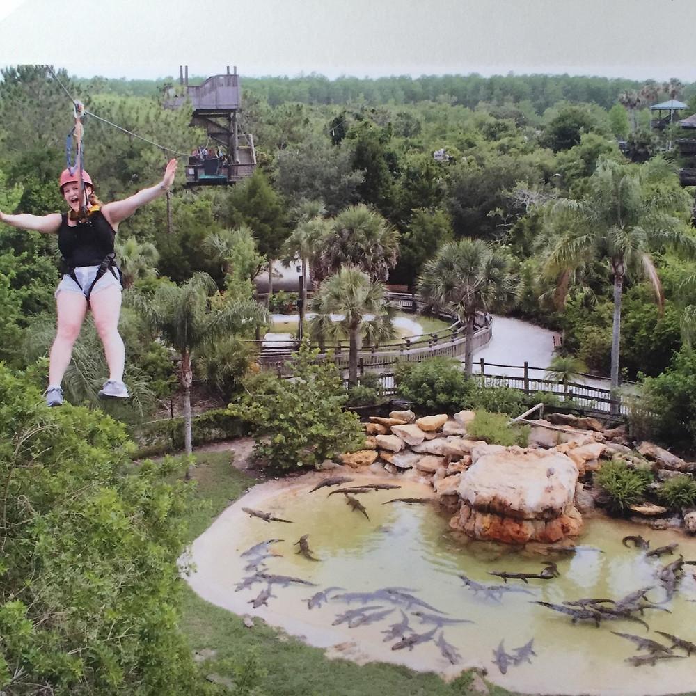 Zipline Gatorland Orlando Florida