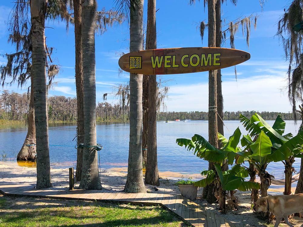 Lake and trees Jodi Fisher Waterski School Orlando Florida