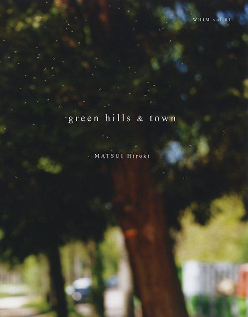 green hills & town