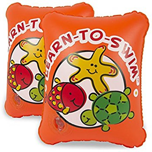 Pool Master Learn-To-Swim 2-Pack Arm Floats in Orange