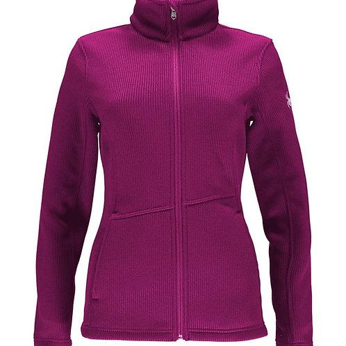 Spyder Women's Purple Core Mid Stryke Full Zip Sweater