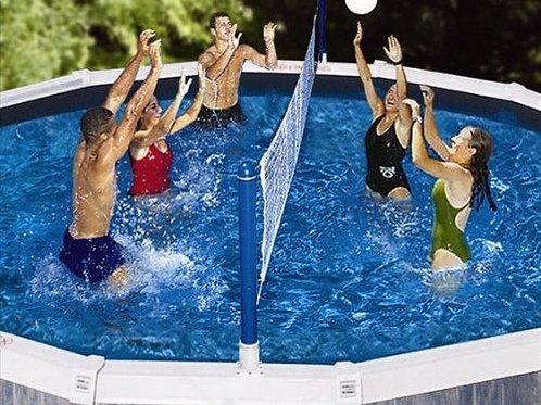 Swimline Cross Pool Volleyball Game Above Ground