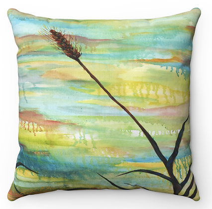 """Wheatgrass"" Throw Pillow"