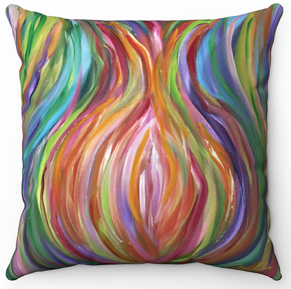 """Colorful Pomegranate"" Throw Pillow"