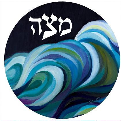 Splitting of the Sea Matzah Tray