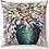 "Thumbnail: ""Dancing Flowers in Vase"" Throw Pillow"
