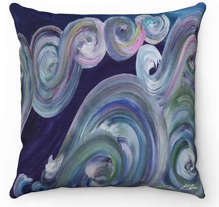 """Pastel Waves"" Throw Pillow"