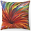 "Thumbnail: ""Bursting Red Flower"" Throw Pillow"