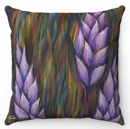 """""""Lavender Lupines"""" Throw Pillow"""