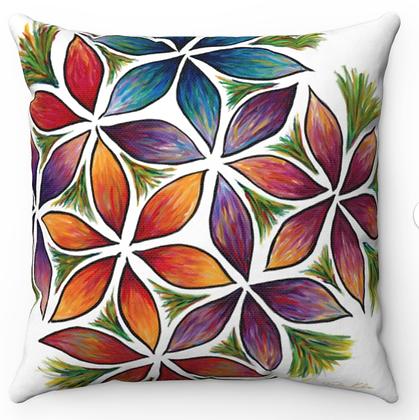 """""""Flower Burst 2"""" Throw Pillow"""
