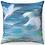"Thumbnail: ""Doves in Flight"" Throw Pillow"