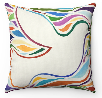 """Dove of Peace"" Throw Pillow"