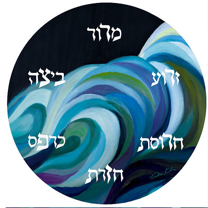 Splitting of the Sea Seder Plate