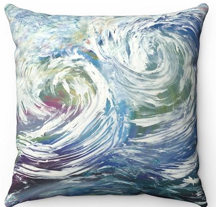 """Waves"" Throw Pillow"