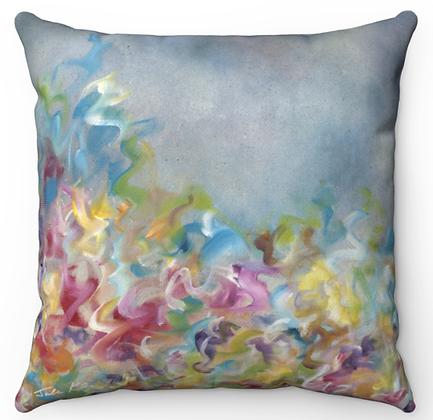 """Spring Flower Field"""" Throw Pillow"""