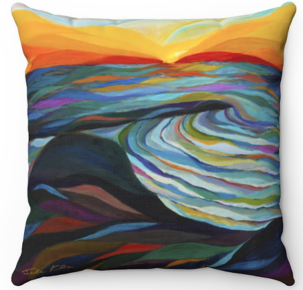"""Sea of Galilee"" Throw Pillow"