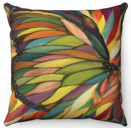 """""""Colorful Butterfly"""" Throw Pillow"""