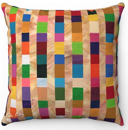 """Colorful Seashore"" Throw Pillow"