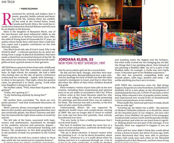jerusalem Post article about me Sep 2020