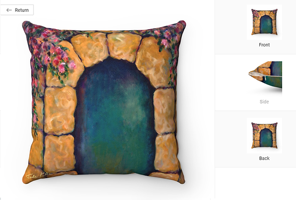 """Jerusalem Welcomes 2"" Throw Pillow"