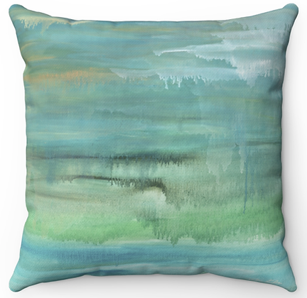 """Mediterranean Sea"" Throw Pillow"