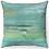 """Thumbnail: """"Mediterranean Sea"""" Throw Pillow"""