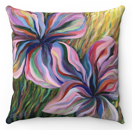"""Galilee Flowers"" Throw Pillow"