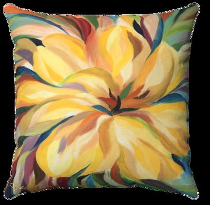 """Yellow Flower"" Throw Pillow"
