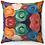 "Thumbnail: ""Boldly Flowered"" Throw Pillow"