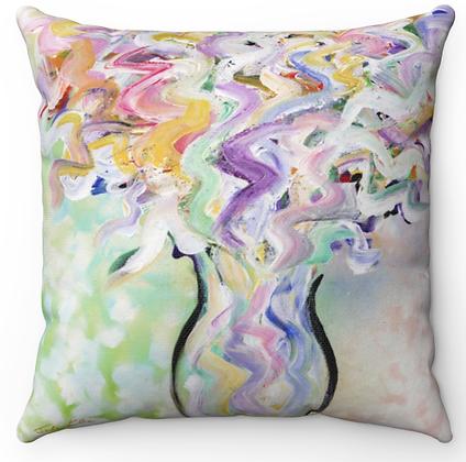 """""""Pastel Vase"""" Throw Pillow"""