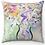 """Thumbnail: """"Pastel Vase"""" Throw Pillow"""