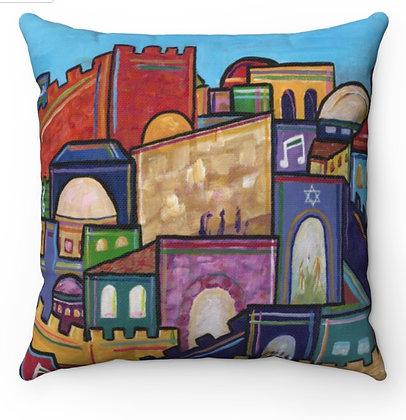 """""""Jerusalem of Joy 3"""" Throw Pillow"""
