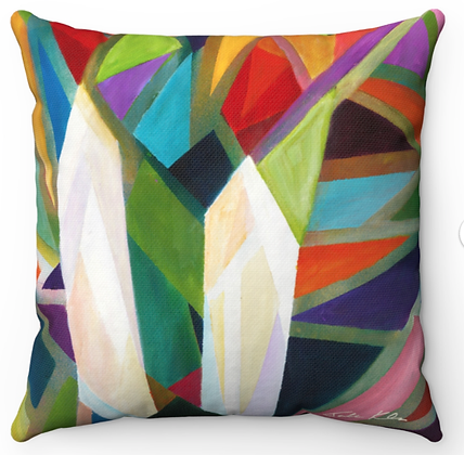 """Shabbat Candles"" Throw Pillow"