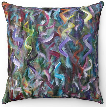 """Dancing Colors"" Throw Pillow"